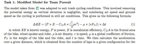 Team Pursuit Equation